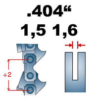 Sägekette Ersatzkette für Motorsäge  STIHL 07S Schnittlänge 53cm 404 1,6