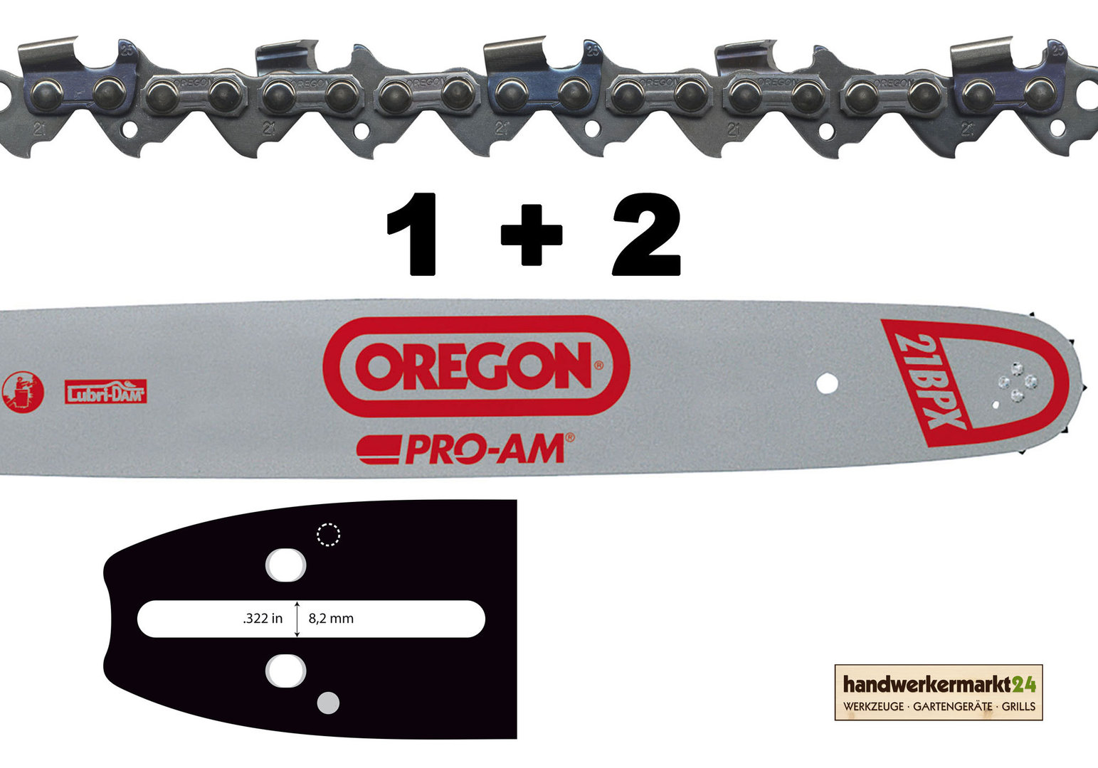 """33cm Schwert .325/"""" 4 Ketten 56TG 1,5mm für Dolmar PS510"""