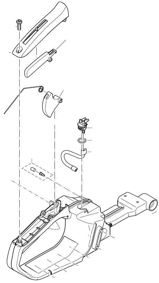 Tankeinheit komplett Dolmar PS-32 PS-35 C//C TLC