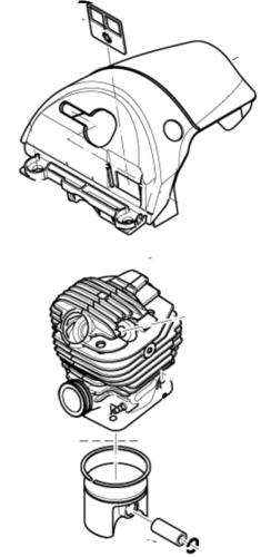 Dolmar Makita Zylinder und Kolben D = 52 HeadDeco SLR