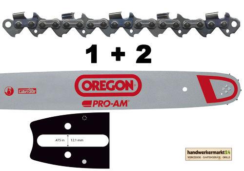 """Schwert 2 Ketten passend für Dolmar PS510 40cm 325/"""" 66TG 1,3mm Sägekette chain"""